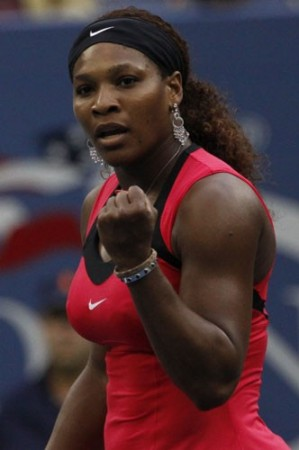 Serena Williams (USA) pumped up against Samantha Stosur (AUS) in the 2011 US Open Women's Final