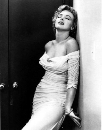 Marilyn Monroe, in her famous Life Magazine cover.