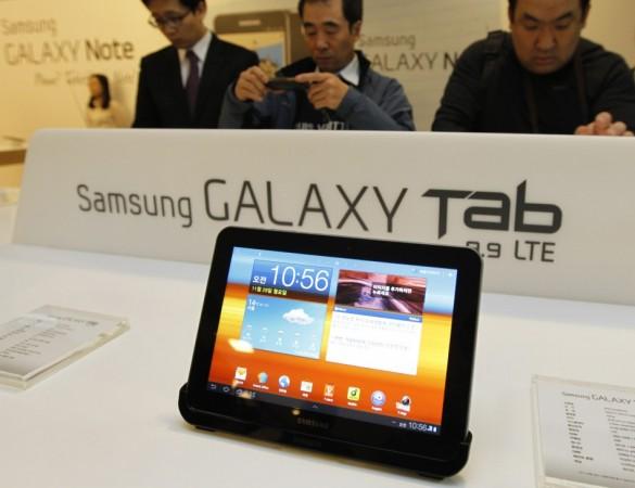 Samsung Galaxy Tablet  device on display
