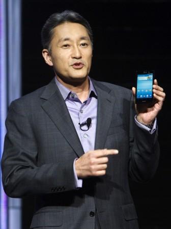 Sony CEO Kaz Hirai Holding Xperia S