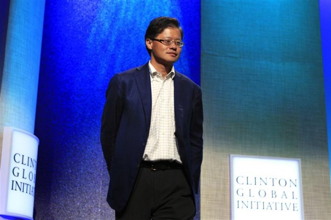 File photo of former CEO of Yahoo! Inc. Jerry Yang arrives at the Clinton Global Initiative in New York