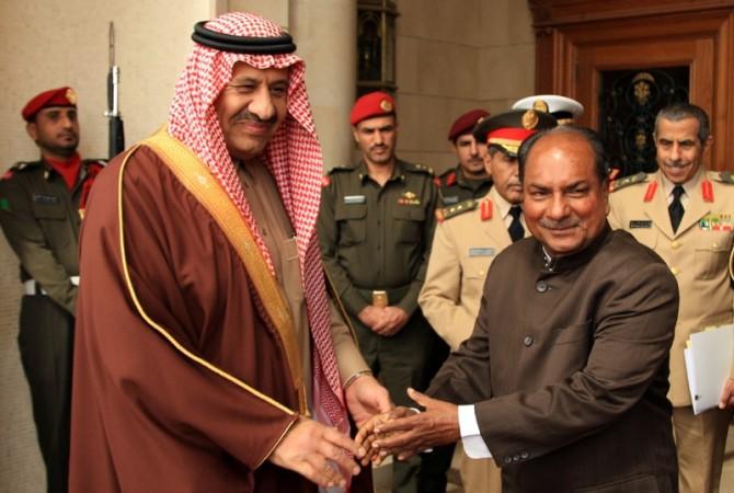 A. K. Antony, Khalid Bin Sultan