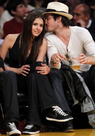 Nina Dobrev and Ian Somerhalder