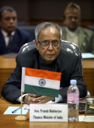India's Finance Minister Pranab Mukherjee