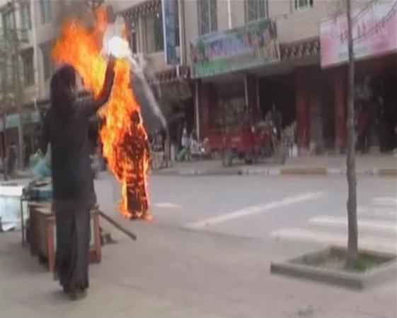 Tibetan protesters