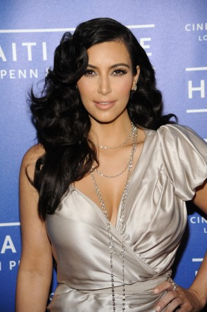 Actress Kardashian attends the Cinema for Peace event benefiting the J/P Haitian Relief Organization, in Los Angeles