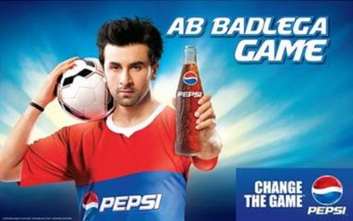 Ranbir Kapoor in Pepsi Football commercial