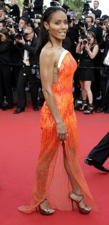 oice actress Jada Pinkett-Smith arrives on the red carpet for the screening of the animated film