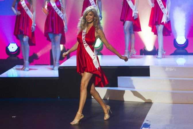 Transgender contestant Jenna Talackova takes part in Miss Universe Canada competition in Toronto May 17, 2012. Talackova was originally disqualified from the Miss Universe Canada contest because she was not a