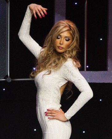 Transgender contestant Jenna Talackova takes part in Miss Universe Canada competition wearing her evening gown in Toronto May 17, 2012. Talackova was originally disqualified from the Miss Universe Canada contest because she was not a