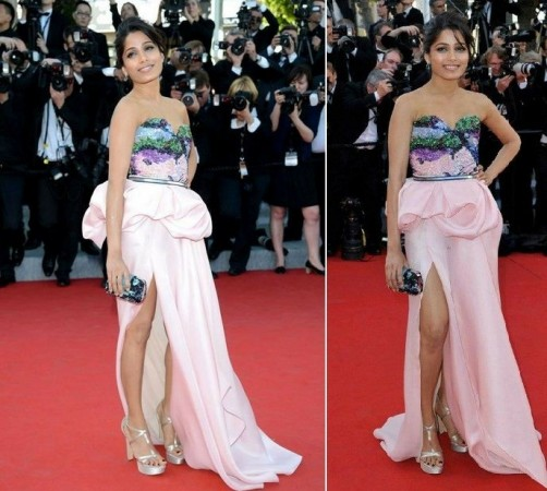 Freida Pinto at Cannes red carpet 2012. (Facebook)