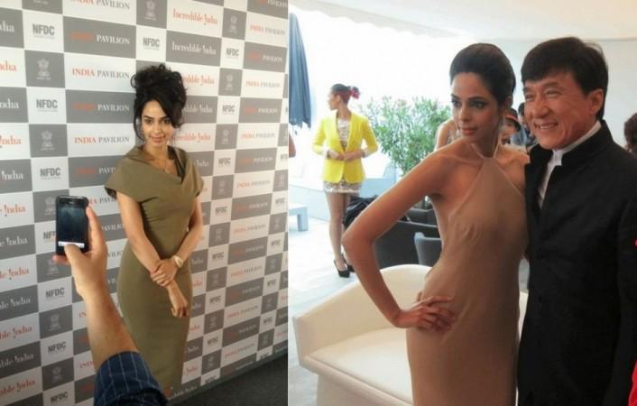 Mallika Sherawat at 65th Cannes Film Festival 2012. Image Credit: Twitter/ Mallika Sherawat