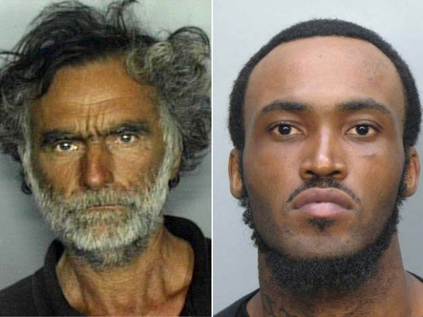 The victim, Ronald Poppo (L), attacker Rudy Eugene (R). Image:Miami-Dade Police Department