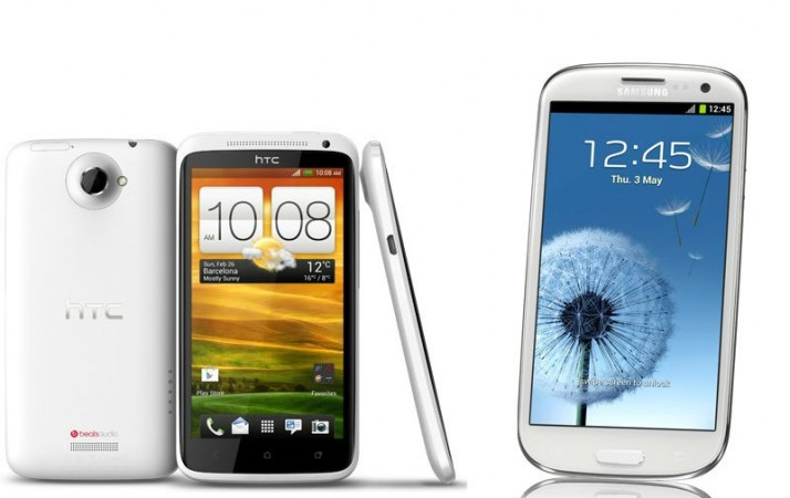 HTC One X and Samsung Galaxy S3