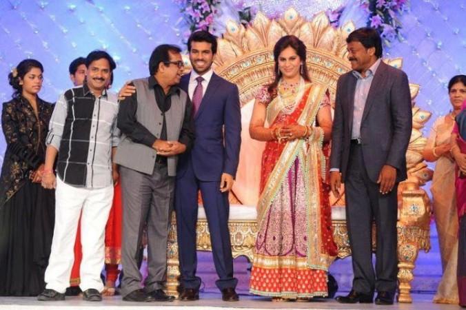 Ram Charan Teja and Upasana Kamineni reception