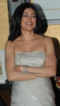 Actress Sushmita Sen at 'I AM SHE' press conference.