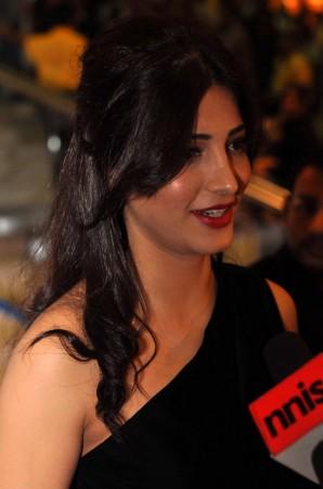 Indian actress Shruti Hasan at SIIMA awards 2012 in Dubai. Image: SIIMA