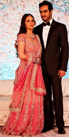 Esha Deol and Bharat Takhtani's reception (Facebook)