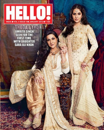 Hello! magazine cover January 2012 issue.