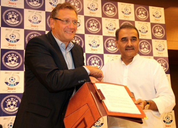 Jerome Valcke and Praful Patel