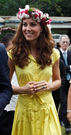 Kate Middleton's Fashion Recap: Duchess Looks Like a Pacific Princess in Brights and Floral Garlands