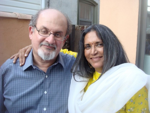 Salman Rushdie with India-born Canadian filmmaker Deepa Mehta. Rushdie has co-produced a film based on his 1981 Midnight's Children, directed by Mehta. The film is set to release in India. (Photo: Midnight's Children Movie Official Site)