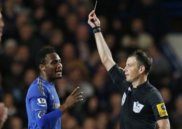 Mark Clattenburg is alleged to have made racial slurs to Chelsea's Mikel and Mata during the match against Manchester United (Reuters)