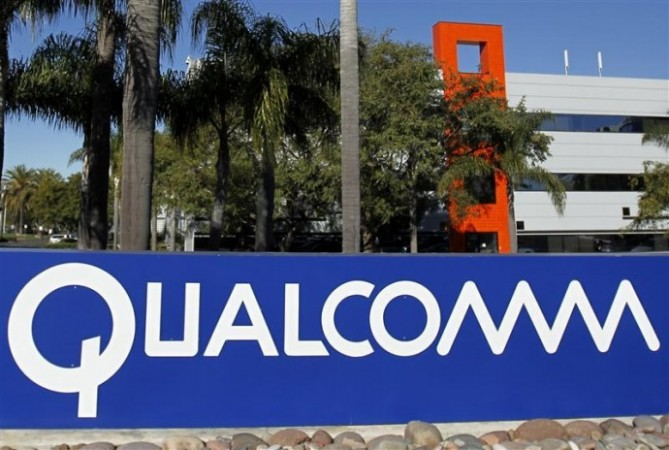 A Qualcomm sign is seen at one of Qualcomm's buildings located on its San Diego Campus