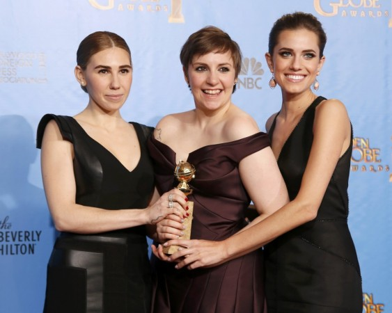 """Girls"" creator and actress Dunham with cast members Williams and Mamet"
