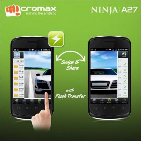 Micromax A27 Ninja Mobile Pops Online for ₹ 3,399