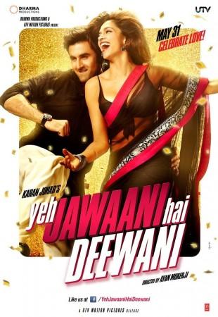 "Deepika Padukone and Ranbir Kapoor in ""Yeh Jawaani Hai Deewani"" (Facebook)"