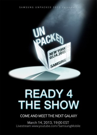 Samsung Galaxy S4 March 14 Launch Event.