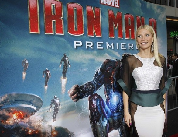 "Iron Man 3's cast member Gwyneth Paltrow poses at the premiere of ""Iron Man 3"" at El Capitan theatre in Hollywood, California"