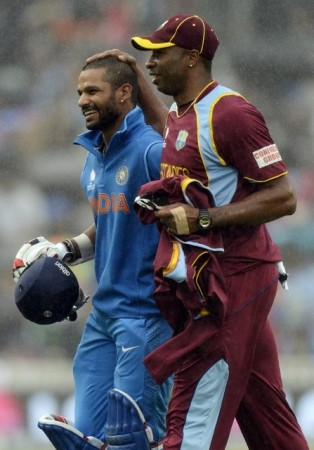 Shikhar Dhawan India Kieron Pollard West Indies
