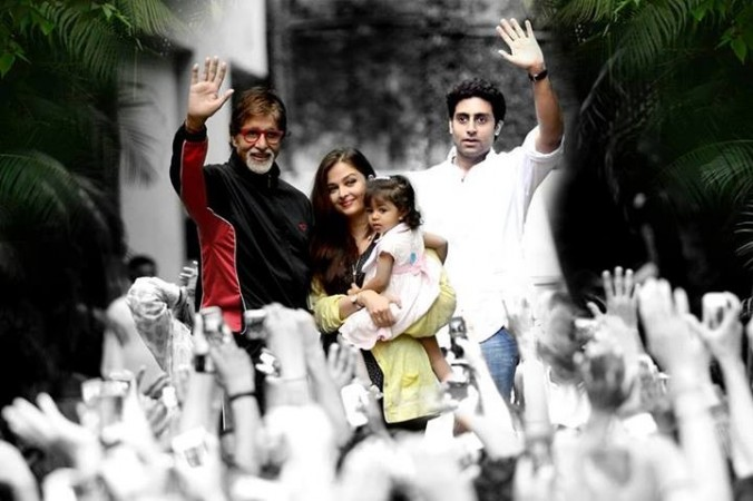 Aishwarya Rai Bachchan and Aaradhya Appear With Amitabh Bachchan