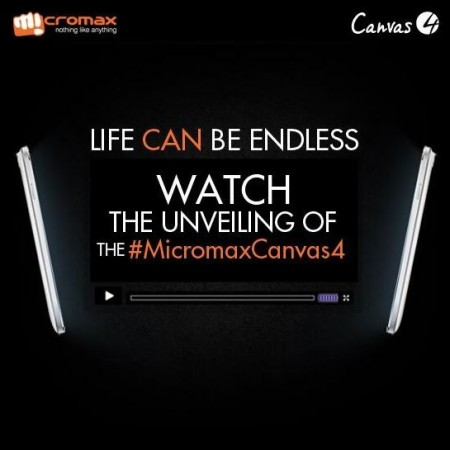 Micromax Canvas 4 Grand Unveiling Live Coverage Will be Streamed Online