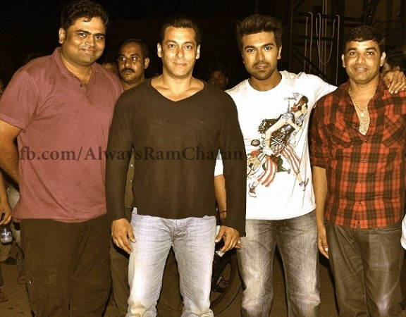 Ram Charan with Salman Khan