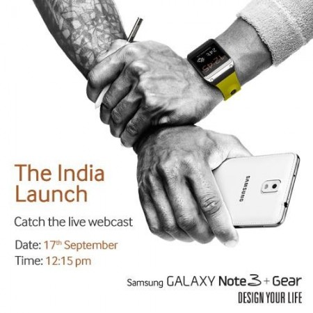 Samsung Galaxy Note 3 and Galaxy Gear Smartwatch India Launch: Live Streaming Information