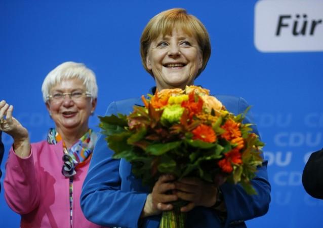 Angela Merkel flowers