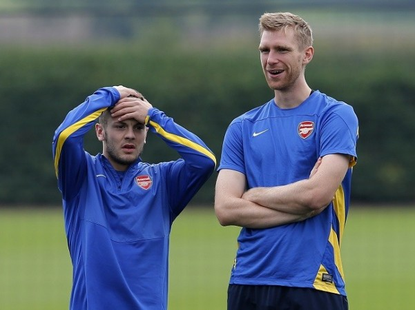 Wilshere Mertesacker Arsenal