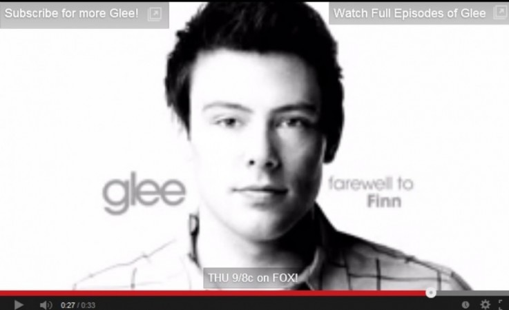 Cory Monteith Glee tribute