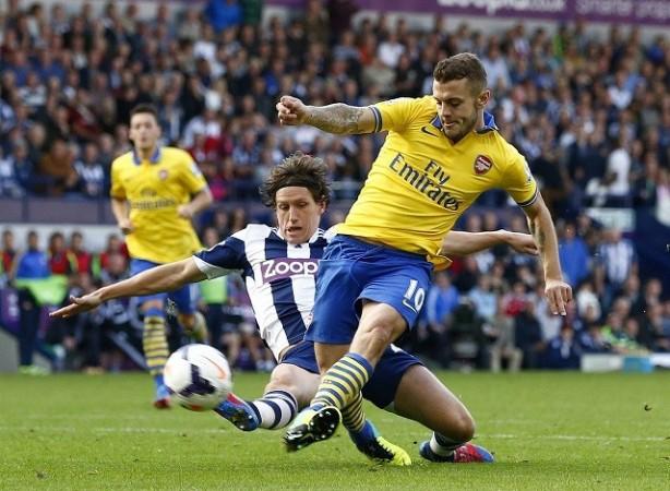 Wilshere Arsenal Jones West Brom