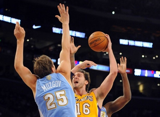 Gasol Lakers Nuggets