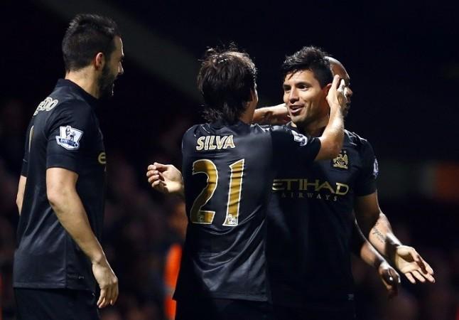 Manchester City Aguero Silva Negredo