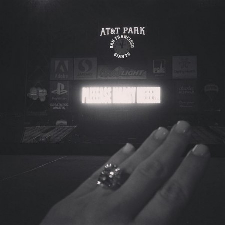 Kim Kardashian Shares Engagement Ring Photo on Instagram