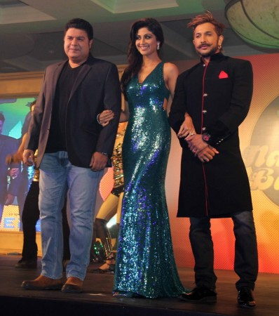 Shilpa Shetty, Terence Lewis and Sajid Khan (Varinder Chawla)