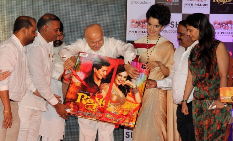 Home Minister Sushilkumar Shinde launching the music for 'Rajjo' along with actress Kangana Ranaut