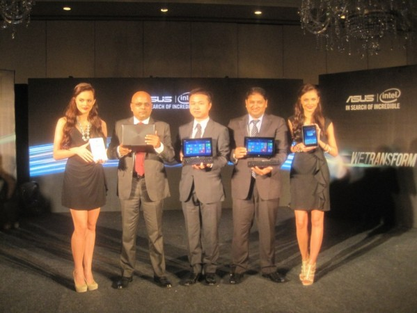 Asus launches Fonepad 7 and Transformer Book T100 L to R - Amit Gupta, Director Business Development, Intel South Asia - Peter Chang, Regional Head - South Asia & Country Manager – System Business Group - ASUS India - Unaez Quraishi, Sales & Distribution