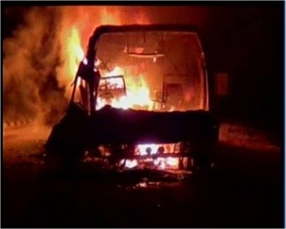 At least 45 killed as bus catches fire in Andhra Pradesh
