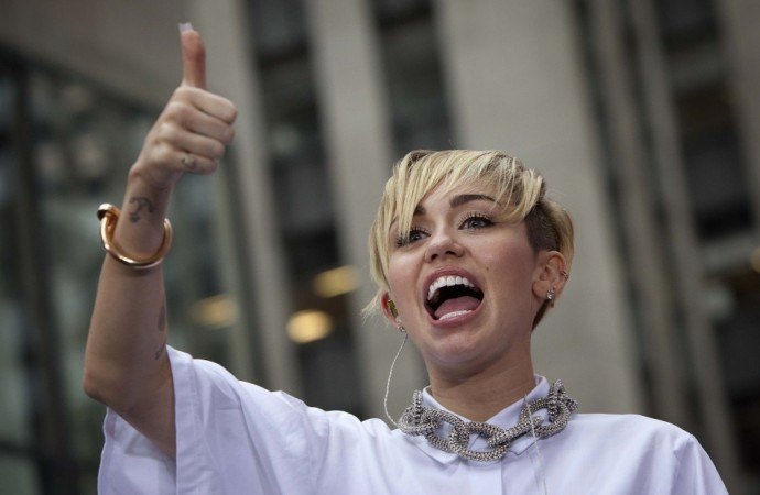 Miley Cyrus performs on NBC's 'Today' show in New York
